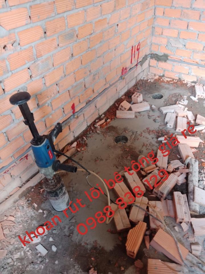 khoan rút lõi sàn tường bê tông quận 8 giá tốt 0988838129