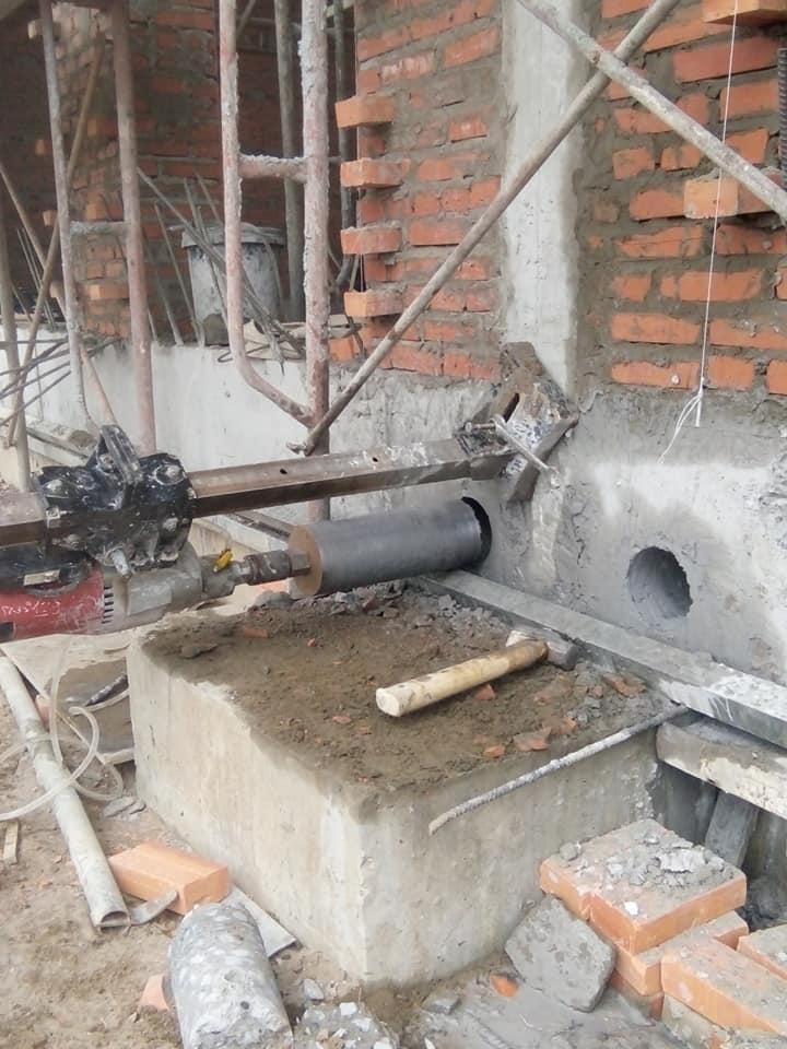 khoan rút lõi sàn tường bê tông quận 6 giá rẻ 0988 838 129 mr Lực