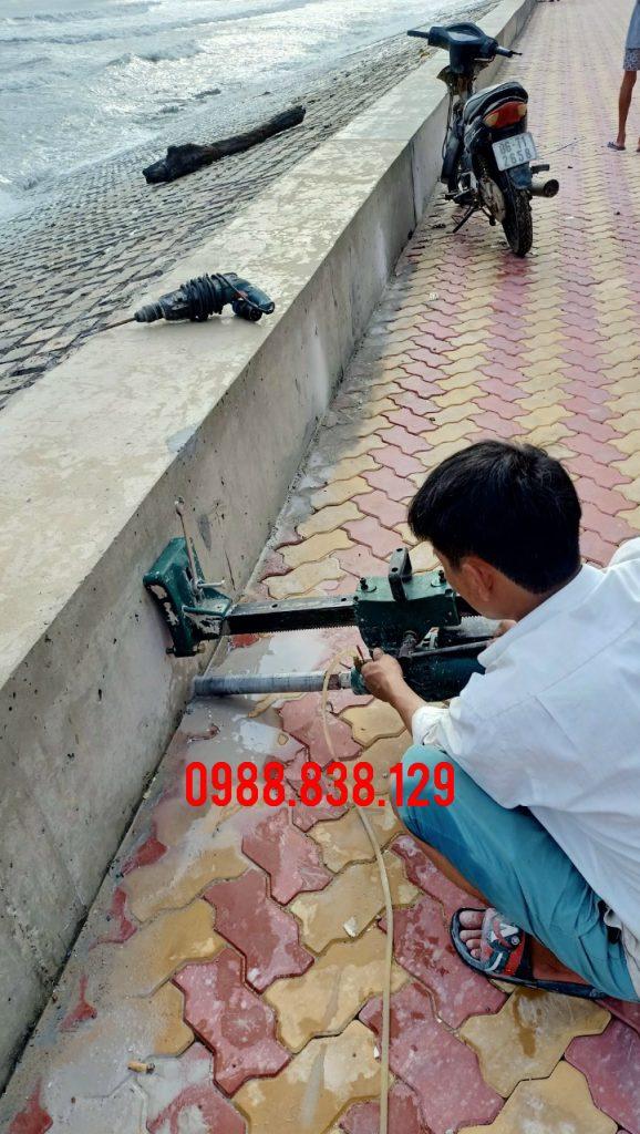 Khoan Lỗ Xuyên Sàn Đà Vách Bê Tông Cốt Thép Tại Bình Thuận Giá Rẻ